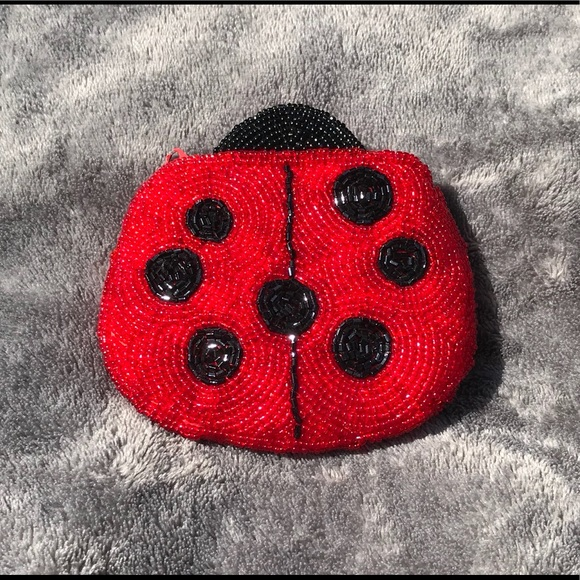 Other - Vintage Beaded ladybug coin purse